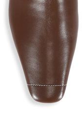 Neous Menea Square-Toe Leather Ankle Boots