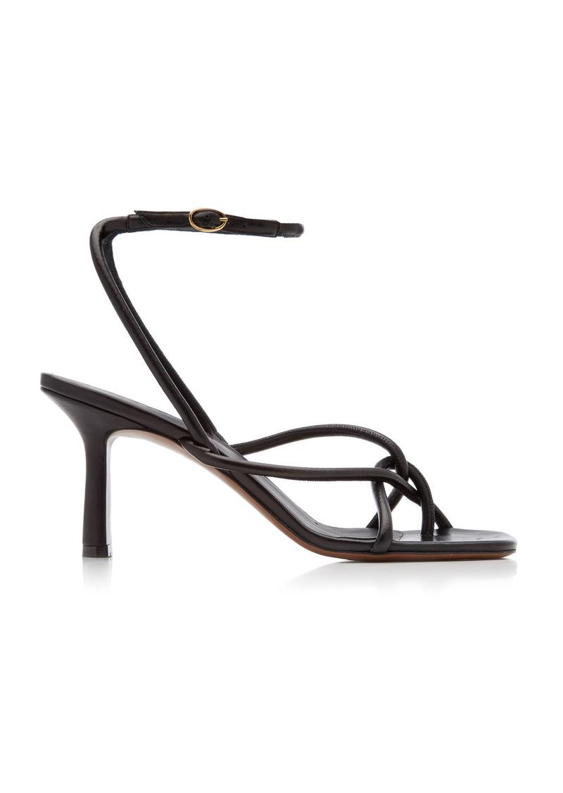 Neous - Women's Alkes Leather Sandals  - Black/white - Moda Operandi