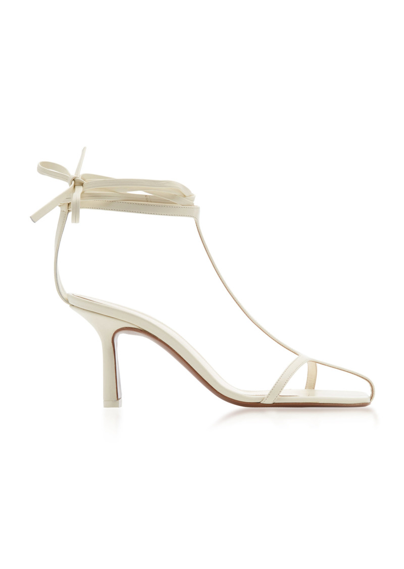 Neous - Women's Anthus Leather Sandals - White - Moda Operandi