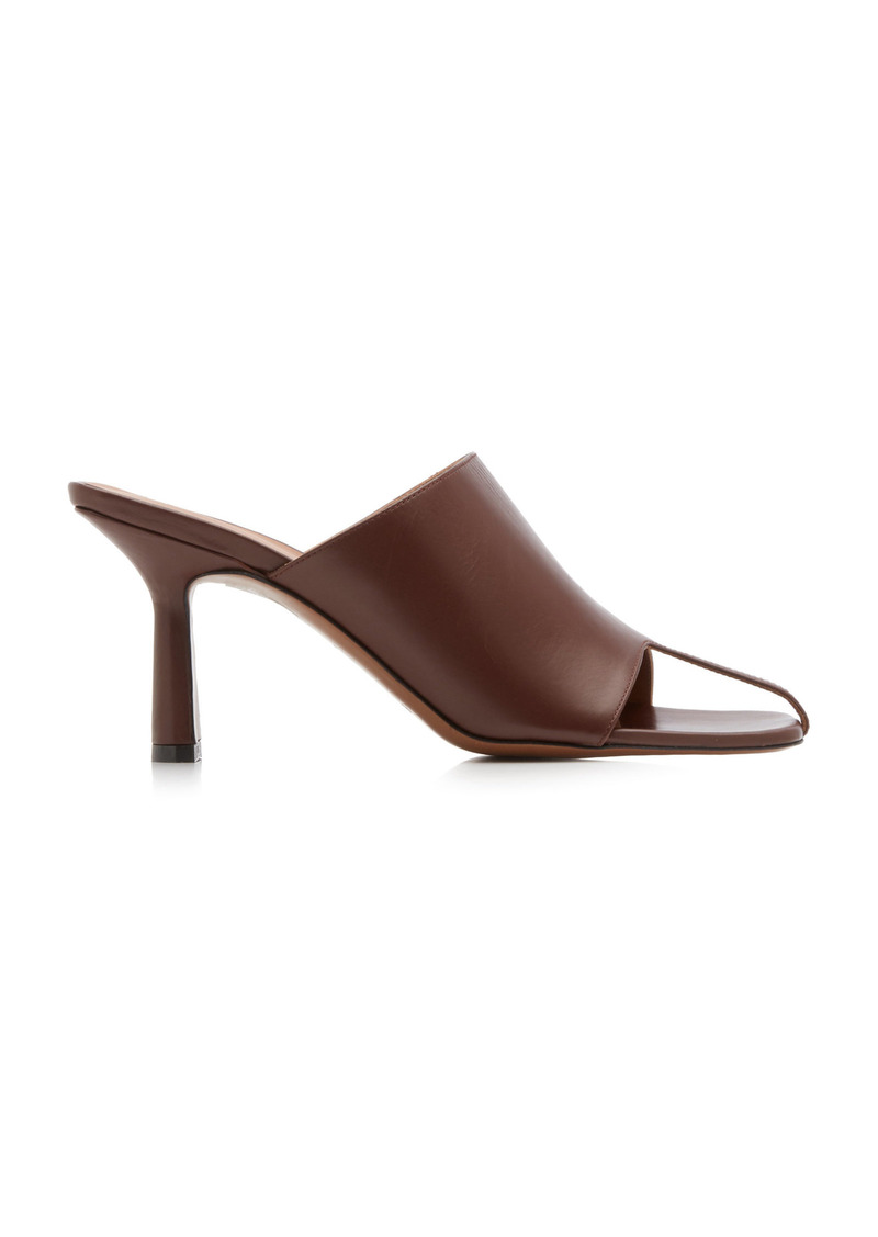 Neous - Women's Jumel Leather Mules - Brown - Moda Operandi