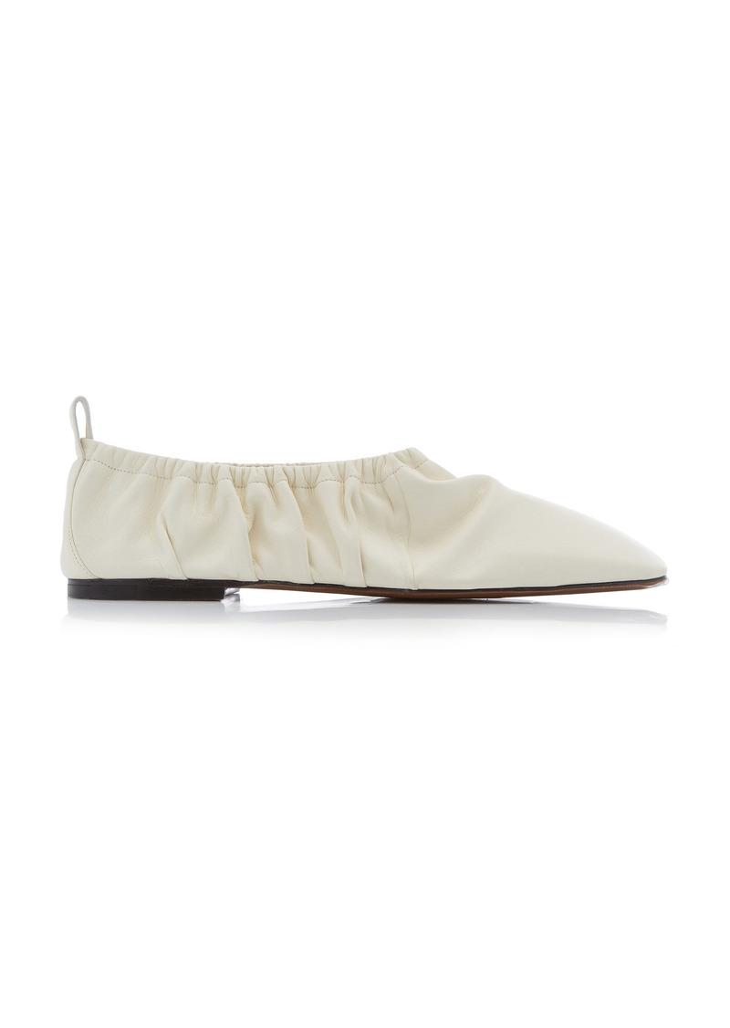 Neous - Women's Phinia Leather Ballet Flats - White - Moda Operandi