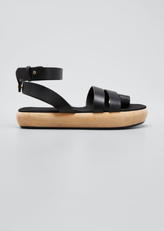 Neous Grobya Toe Ring Wood-Heel Sandals