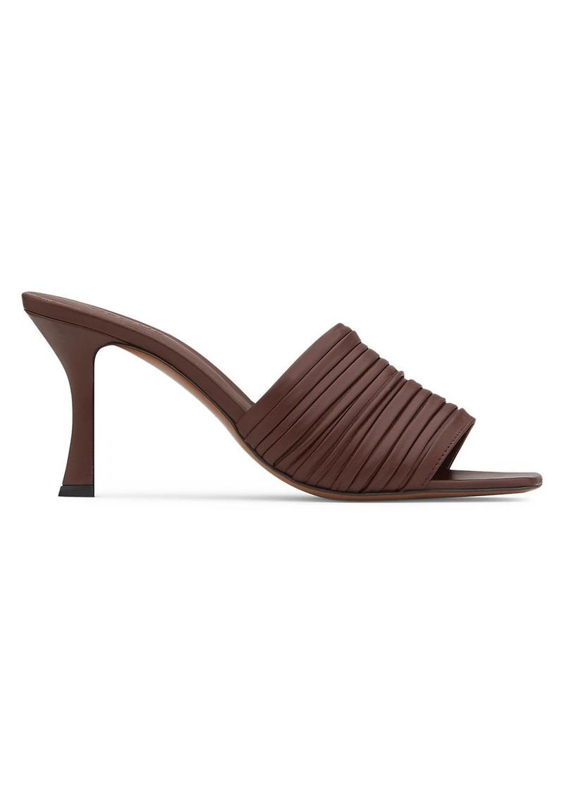 Neous Sham Square-Toe Leather Mules