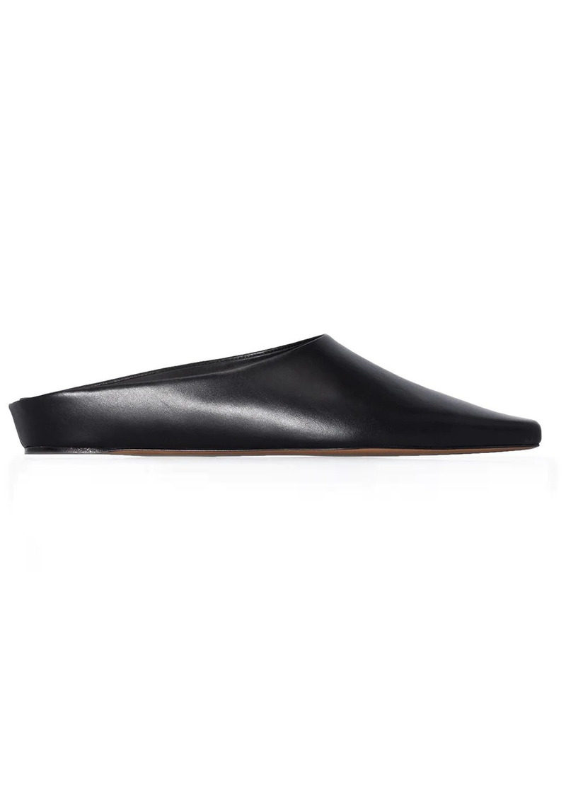 Neous slip-on flat leather mules