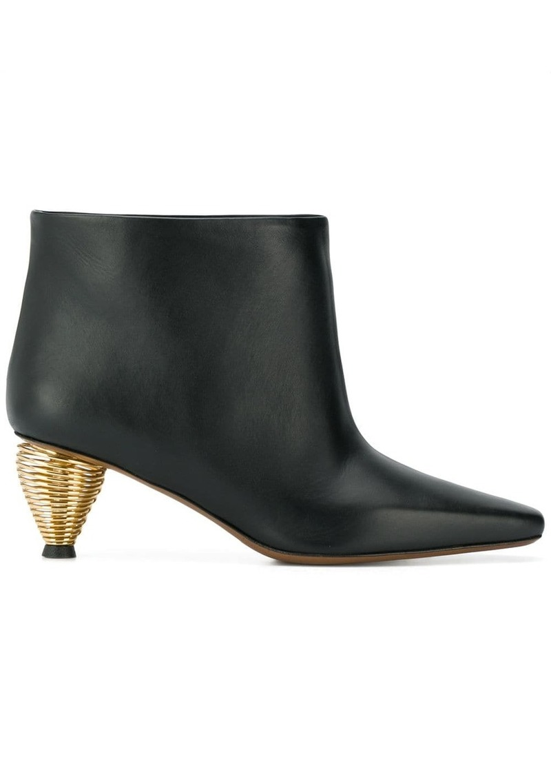 Neous spiral heel boots