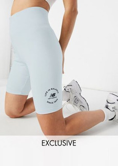 New Balance 'Life in Balance' legging shorts in pale blue - Exclusive to ASOS