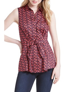 NIC + ZOE NIC+ZOE Cocktail Hour Tie Front Blouse