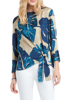 NIC + ZOE NIC+ZOE Falling Fronds Knotted Tie Blouse
