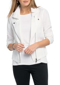 NIC + ZOE NIC+ZOE Linen Blend Biker Jacket (Regular & Petite)
