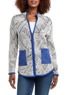 NIC + ZOE NIC+ZOE New Leaf Zip-Up Jacket (Regular & Petite)