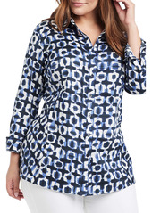 NIC + ZOE NIC+ZOE Shibori Stretch Cotton Tunic (Plus Size)