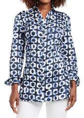 NIC + ZOE NIC+ZOE Shibori Stretch Cotton Tunic (Regular & Petite)
