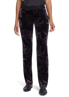 NIC + ZOE NIC+ZOE Soft Petal Stretch Velvet Pants