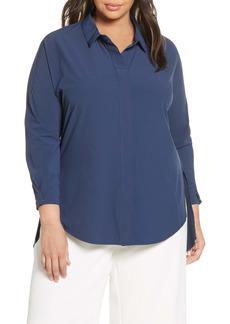 NIC + ZOE NIC+ZOE Tech Stretch Shirt (Plus Size)