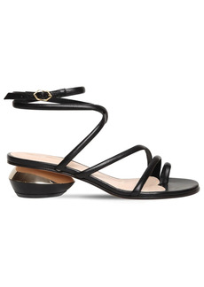 Nicholas Kirkwood 45mm Beya Leather Thong Sandals
