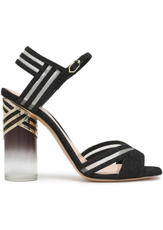 Nicholas Kirkwood Woman Zaha 105 Mesh-trimmed Lurex Sandals Black