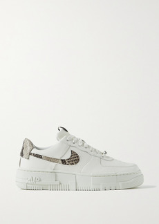 Nike Air Force 1 Pixel Smooth And Snake-effect Leather Sneakers