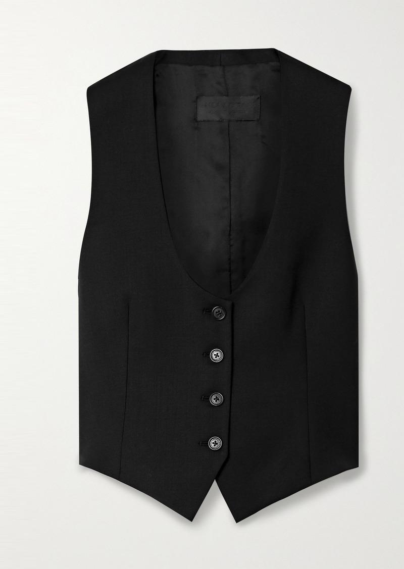Nili Lotan Colin Wool-blend Twill Vest