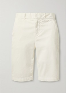 Nili Lotan Granada Stretch-cotton Twill Shorts