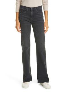 Nili Lotan Celia Distressed High Waist Wide Leg Bootcut Jeans