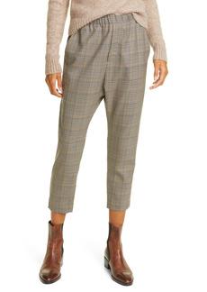 Nili Lotan Delancy Plaid Virgin Wool Pull-On Pants