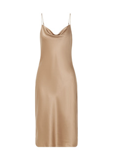 Nili Lotan Woman Junie Draped Silk-satin Slip Dress Beige