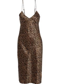 Nili Lotan Woman Short Cami Printed Silk-charmeuse Slip Dress Animal Print
