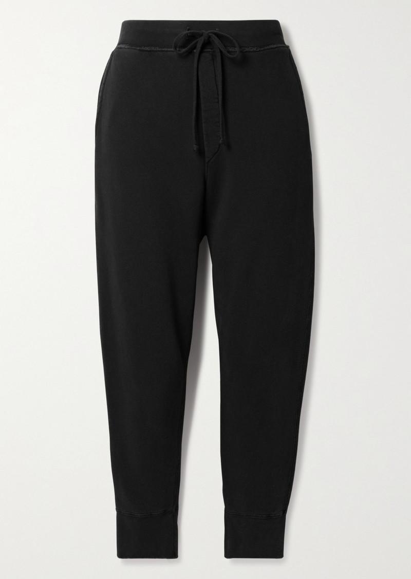 Nili Lotan Nolan Cropped Cotton-jersey Track Pants