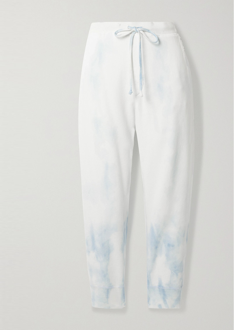 Nili Lotan Nolan Cropped Tie-dyed Cotton-jersey Track Pants