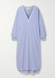 Nili Lotan Raven Striped Cotton-voile Midi Dress