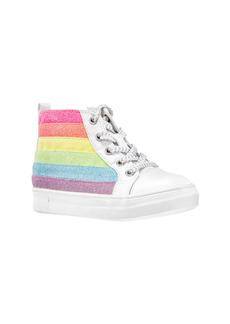Nina Kolette Glitter Stripe High Top Sneaker (Walker & Toddler)