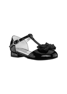Nina Noemy Glitter Bow Dress Shoe (Walker & Toddler)