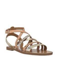 Nine West Cane Studded Strappy Sandal (Women)