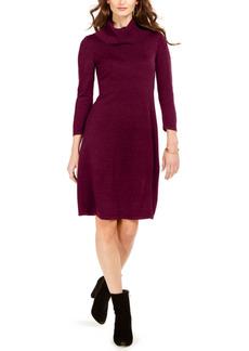 Nine West Cowlneck Sweater Dress