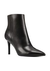 Nine West Fhayla Pointy Toe Leather Bootie (Women)