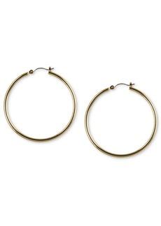 """Nine West Gold-Tone 2"""" Tube Hoop Earrings"""