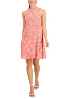 Nine West Gwen Printed Jersey A-Line Dress