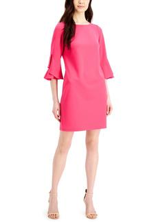 Nine West Ruffled-Sleeve Shift Dress