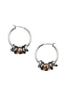 Nine West Silver-Tone Hoop Earring
