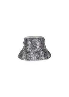 Nine West Snake-Embossed Reversible Rain Bucket Hat
