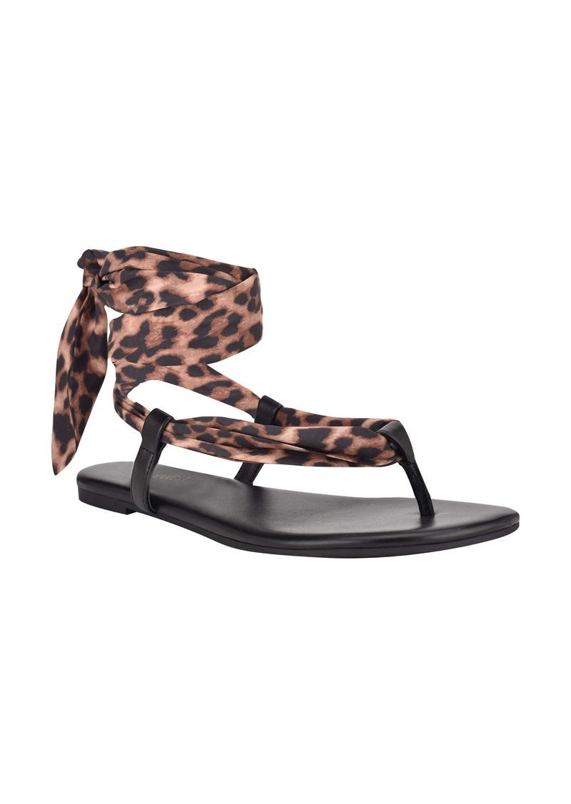 Nine West Trap Ankle Tie Sandal (Women)