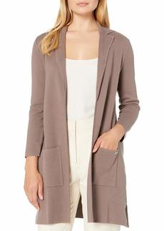 NINE WEST Women's 2 Pocket Notch Collar Sweater  L