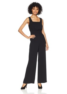 NINE WEST Women's Crepe Jumpsuit with Smocking