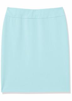 NINE WEST Women's Drapey Crepe Slim Pull ON Skirt  S