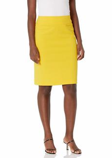 NINE WEST Women's Pull-ON Yoke Skirt Sun-EP9 XL
