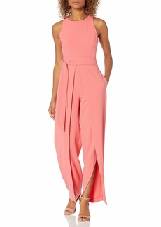 NINE WEST Women's Jumpsuit Belted with a Flyaway Pant