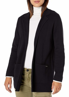 NINE WEST Women's Kissing Front Patch Pocket Cardigan with Notch Collar  S