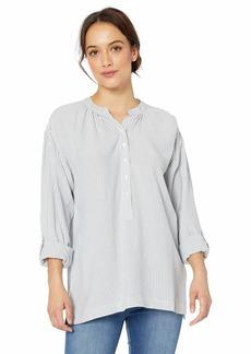 NINE WEST Women's Nitsa Roll Sleeve High Low Hem Top  XLarge