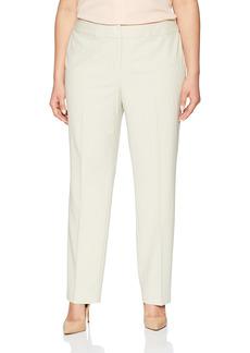 NINE WEST Women's Size Plus BI Stretch Crepe Trouser Pant  W
