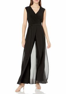 NINE WEST Women's Sleeveless Wrap Jumpsuit